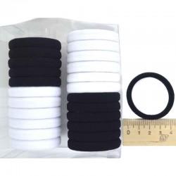 Резинка для волос в коробочке (24 шт) ч/б
