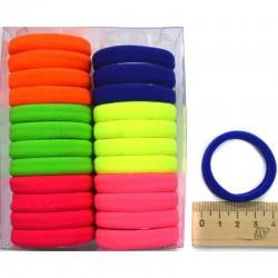 Резинка для волос в коробочке (24 шт) цветная