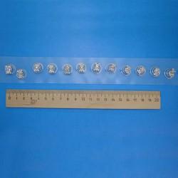 Шпилька спираль бантик 1 уп (12 шт)
