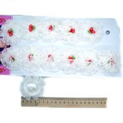 Резинка для волос ягодки, белая пара(2 шт)
