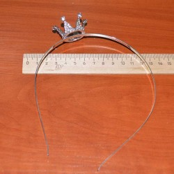 Ободок корона металл маленькая