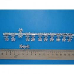 Краб для прически белый цветочек ( 12 шт) маленький