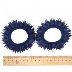 Резинка рюша синяя(2 шт)