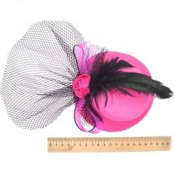 Шляпка большая розовая