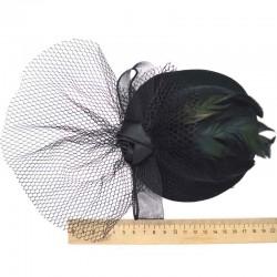 Шляпка большая черная