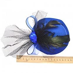 Шляпка большая синяя