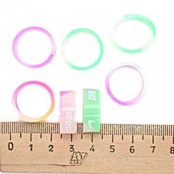 Кольцо силиконовое светящиеся микс (5 шт)