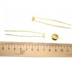 Шпилька с основанием серебристая (8 шт)
