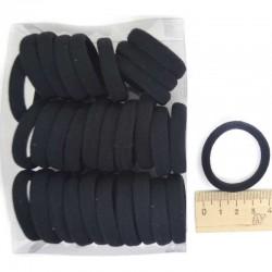 Резинка черная (30 шт) 4х0,8см