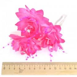 Шпилька для волос цветы (3 шт) розовые