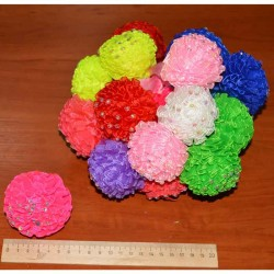 Резинка шар цветной со стразами микс 1 пара (2 шт)