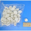 Краб маленький ромашка белая 1,5см( 1 уп)