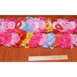 Резинка цветок сетка цветок с жемчужиной (1 шт)
