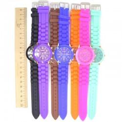 Часы Ж силиконовый ремень микс (1 шт)