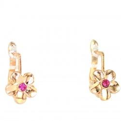 Серьги модель 69 цветок розовый аз