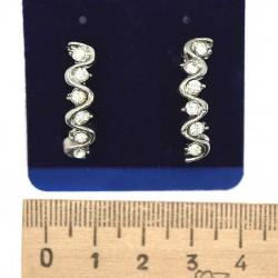 Серьги пхх модель 12 серебро