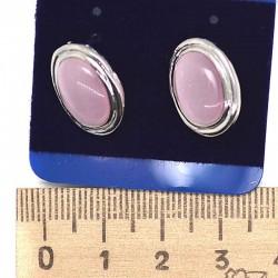 Серьги пхх модель 23 под кошачий глаз розовый