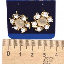 Серьги пхх модель 28 золотистые