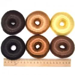 Валик шишка волосы 6х2 см микс (1 шт)