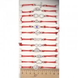 Браслет красная нить декор микс М14 (1 шт)
