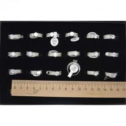 Кольцо 3х серебристое циркон (1 шт) модель 4