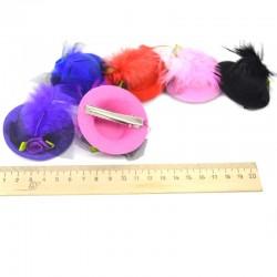 Шляпка для волос маленькая (1 шт) цвет микс