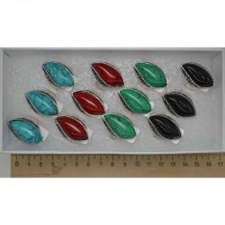 Кольцо камни волна микс (1 шт) модель 6