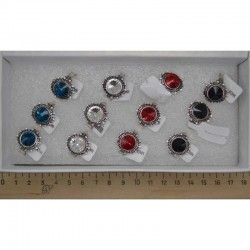Кольцо камни круг микс (1 шт) М9