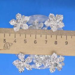 Шпилька цветок серебристый М4 (20 шт)