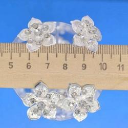 Шпилька цветок серебристый М5 (12 шт)