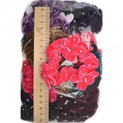 Резинка р13 бархат цветы микс (1 шт)