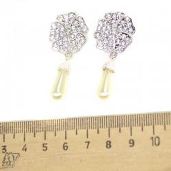 Серьги серебристый цветок М54