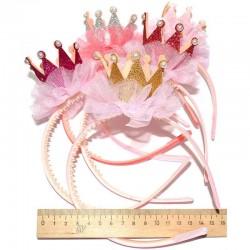 Ободок корона с жемчугом д9 микс (1 шт)