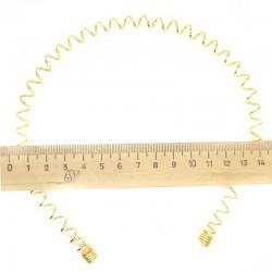 Ободок спираль золотистая М23