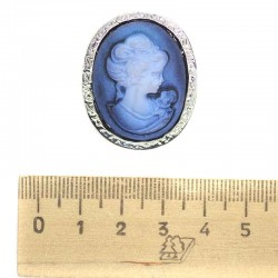 Брошь изображение синие М72