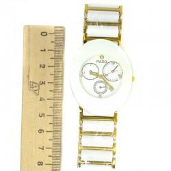 Часы с датой белые с золотистым М3
