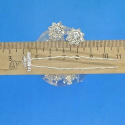 Шпилька цветок из страз М11 (20 шт)