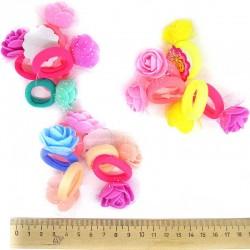 Резинка Д36 цветок фоамиран микс (5 шт)