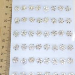 Серьги-гвоздики снежинки (1 пара)