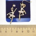 Серьги балерина золотистые М59