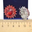 Серьги круглые красные М61