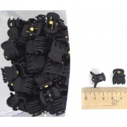 Краб каучук 1,5 см черный (12 шт) М47