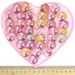 Кольцо пластик принцесса (6 шт) М4
