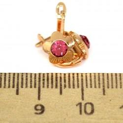Серьги модель133 аз цветок розовый