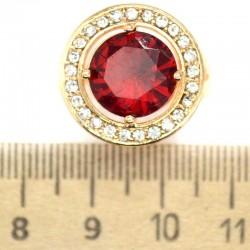 Кольцо мм М3 круг красный