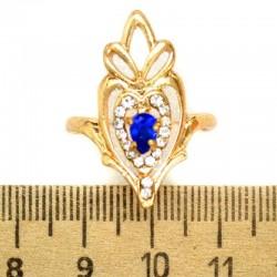 Кольцо мм М8 синий камень