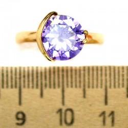 Кольцо мм М11 круг фиолетовый