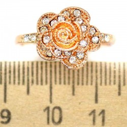 Кольцо мм М14 цветок стразы
