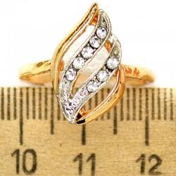 Кольцо мм М23 лист с серебристым