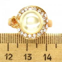 Кольцо мм М32 круг жемчужина